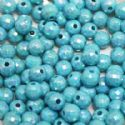 Beads, Acrylic, Light blue, Spherical, Diameter 7mm, NA, 40 Beads, (SLZ0214)